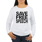 Save Free Speech Women's Long Sleeve T-Shirt