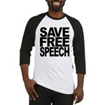 Save Free Speech Baseball Jersey