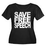 Save Free Speech Women's Plus Size Scoop Neck Dark