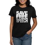 Save Free Speech Women's Dark T-Shirt