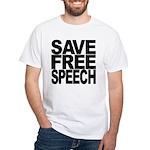 Save Free Speech White T-Shirt