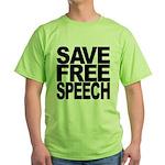 Save Free Speech Green T-Shirt