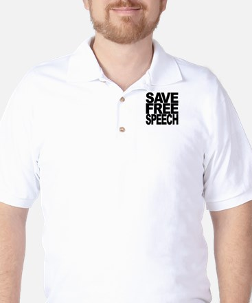 Save Free Speech Golf Shirt