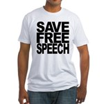 Save Free Speech Fitted T-Shirt