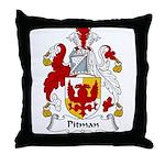 Pitman Family Crest Throw Pillow
