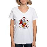Pitman Family Crest   Women's V-Neck T-Shirt