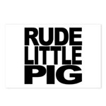 Rude Little Pig Postcards (Package of 8)
