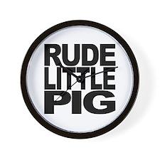 Rude Little Pig Wall Clock