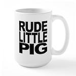 Rude Little Pig Large Mug