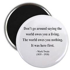 "Mark Twain 5 2.25"" Magnet (100 pack)"