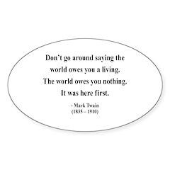 Mark Twain 5 Oval Decal