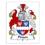 Pinson Family Crest Small Poster