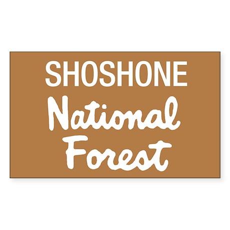 Shoshone National Forest (Sign) Sticker (Rectangul