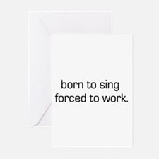 Born To Sing Greeting Cards (Pk of 10)