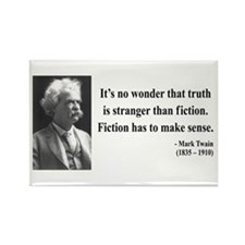 Mark Twain 6 Rectangle Magnet