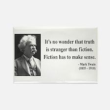 Mark Twain 6 Rectangle Magnet