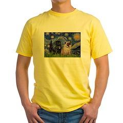 Starry Night / 2 Pugs T