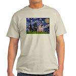 Starry Night / 2 Pugs Light T-Shirt