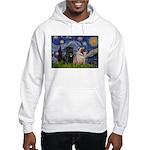 Starry Night / 2 Pugs Hooded Sweatshirt