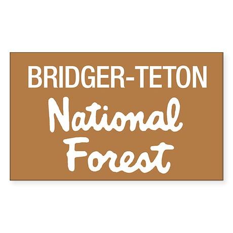 Bridger-Teton National Forest (Sign) Sticker (Rect