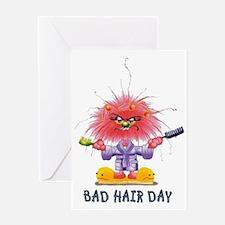 Zelda Bad Hair Day Greeting Card