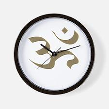 Aum Om Mystical Yoga Wall Clock
