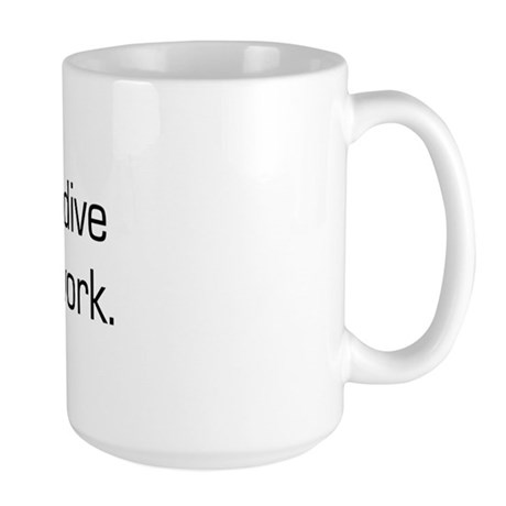 Born To Skydive Large Mug