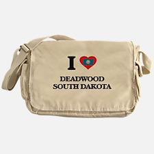 I love Deadwood South Dakota Messenger Bag