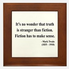 Mark Twain 6 Framed Tile