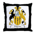 Pilgrim Family Crest Throw Pillow