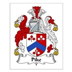 Pike Family Crest Small Poster