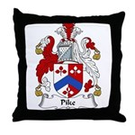 Pike Family Crest Throw Pillow