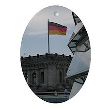 German Pride Oval Ornament