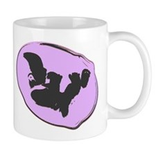 Baby Silhouette Mauve Small Mug