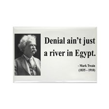 Mark Twain 7 Rectangle Magnet