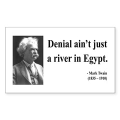 Mark Twain 7 Rectangle Decal