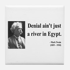 Mark Twain 7 Tile Coaster