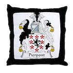 Pierpont Family Crest Throw Pillow
