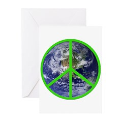Earth Peace Symbol Greeting Cards (Pk of 20)