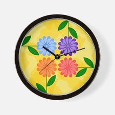 Cute Yellow flower Wall Clock