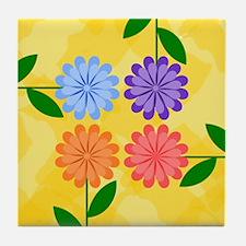 Unique Modern daisies Tile Coaster