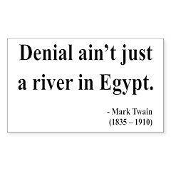 Mark Twain 7 Rectangle Decal