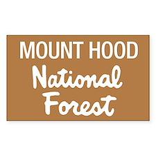 Mount Hood (Sign) National Fo Sticker (Rectangular