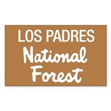 Los Padres (Sign) National Fo Sticker (Rectangular