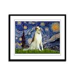 Starry Night & Borzoi Framed Panel Print