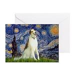 Starry Night & Borzoi Greeting Cards (Pk of 20)