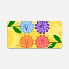 Cool Yellow flowers Aluminum License Plate