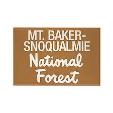 Mt. Baker-Snoqualmie Nat Forest Rectangle Magnet