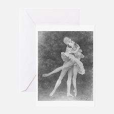 Swan Lake Pas de Deux Single Greeting Card