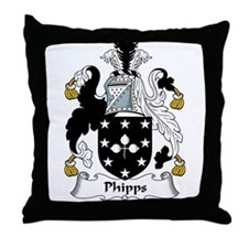 Phipps Family Crest Throw Pillow